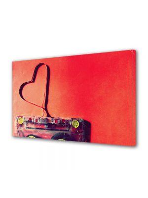 Tablou Canvas Valentine's Day Ziua indragostitilor Caseta cu muzica de dragoste