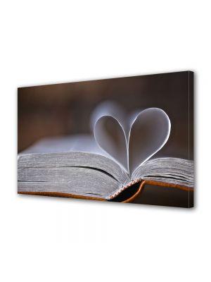 Tablou Canvas Valentine's Day Ziua indragostitilor Inima din pagini de carte