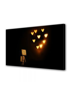 Tablou Canvas Valentine's Day Ziua indragostitilor Licurici inima