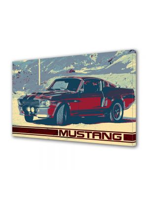 Tablou Canvas Vintage Aspect Retro Mustang