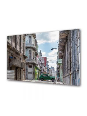 Tablou Canvas Luminos in intuneric VarioView LED Vintage Aspect Retro Strazile din Cuba