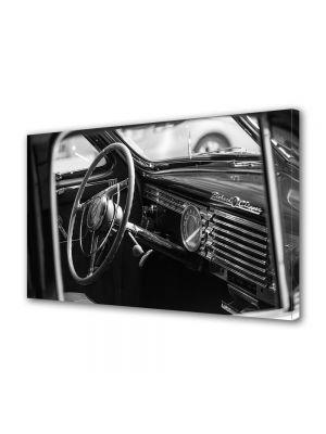 Tablou Canvas Luminos in intuneric VarioView LED Vintage Aspect Retro Interior masina vintage
