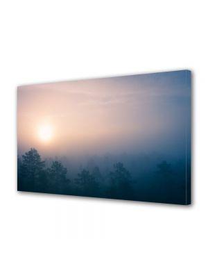 Tablou Canvas Vintage Aspect Retro Rasarit in ceata