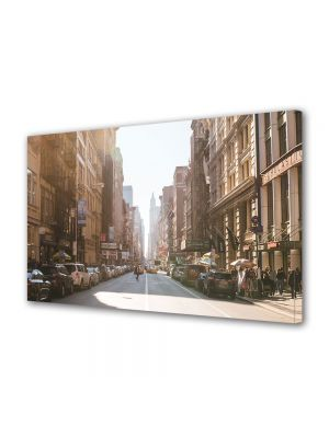 Tablou Canvas Luminos in intuneric VarioView LED Vintage Aspect Retro Strada in New York