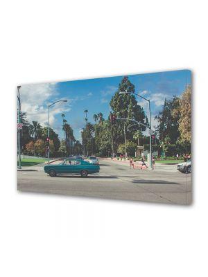 Tablou Canvas Vintage Aspect Retro Strada cu palmieri