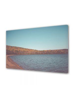 Tablou Canvas Luminos in intuneric VarioView LED Vintage Aspect Retro Padure si lac toamna