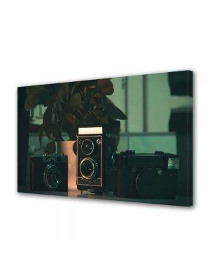 Tablou Canvas Luminos in intuneric VarioView LED Vintage Aspect Retro Camere foto film