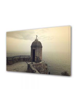 Tablou Canvas Vintage Aspect Retro Pescarus langa mare