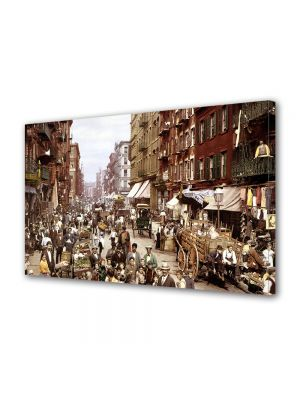 Tablou Canvas Luminos in intuneric VarioView LED Vintage Aspect Retro Orasul vechi New York