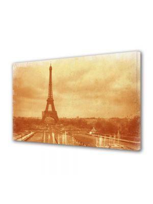 Tablou Canvas Luminos in intuneric VarioView LED Vintage Aspect Retro Vedere Turnul Eiffel