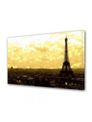 Tablou Canvas Luminos in intuneric VarioView LED Vintage Aspect Retro Turnul Eiffel la apus