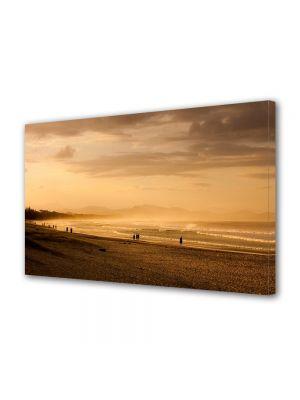 Tablou Canvas Vintage Aspect Retro Pe plaja la apus