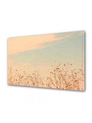Tablou Canvas Luminos in intuneric VarioView LED Vintage Aspect Retro Nori roz