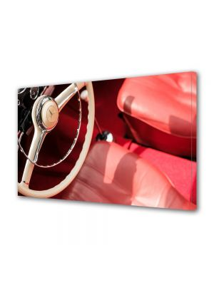 Tablou Canvas Vintage Aspect Retro Masina de lux rosie