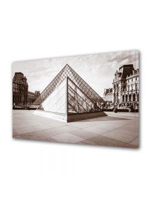 Tablou Canvas Luminos in intuneric VarioView LED Vintage Aspect Retro Piramida de la Luvru