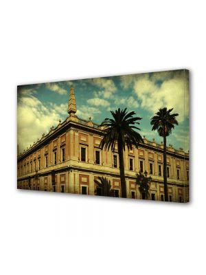 Tablou Canvas Luminos in intuneric VarioView LED Vintage Aspect Retro Arhitectura tropicala