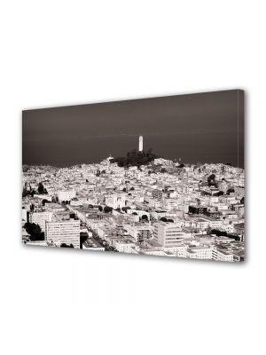 Tablou Canvas Vintage Aspect Retro Lumina alba peste oras