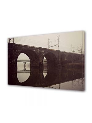 Tablou Canvas Vintage Aspect Retro Pod de cale ferata