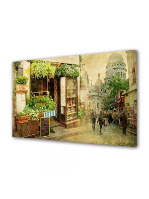Tablou Canvas Vintage Aspect Retro Magazinul de flori