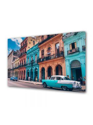 Tablou Canvas Vintage Aspect Retro Culorile din Havana
