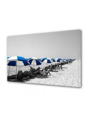 Tablou Canvas Vintage Aspect Retro Umbrelute pe plaja