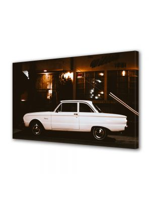 Tablou Canvas Vintage Aspect Retro Masina vintage alba