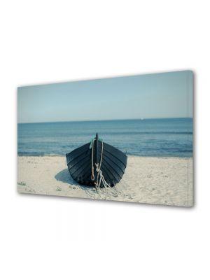 Tablou Canvas Vintage Aspect Retro Barcuta pe plaja