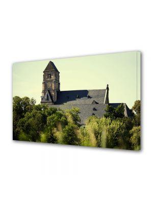 Tablou Canvas Luminos in intuneric VarioView LED Vintage Aspect Retro Dealul bisericii