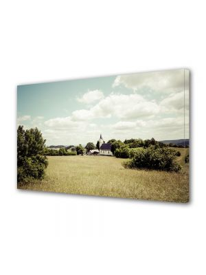 Tablou Canvas Luminos in intuneric VarioView LED Vintage Aspect Retro Peisaj rural