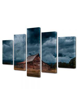 Set Tablouri Muilticanvas 5 Piese Vintage Aspect Retro Nori de furtuna