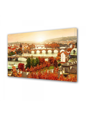 Tablou Canvas Toamna in Orasul Praga 70 x 100 cm
