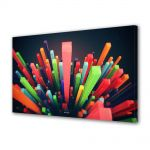 Tablou Canvas Luminos in intuneric VarioView LED Abstract Modern Zgarie nori abstracti