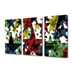 Set Tablouri Multicanvas 3 Piese Abstract Decorativ Stele