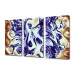 Set Tablouri Multicanvas 3 Piese Abstract Decorativ Pastel