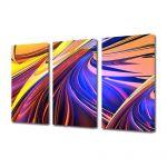 Set Tablouri Multicanvas 3 Piese Abstract Decorativ Forme abstracte
