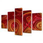 Set Tablouri Multicanvas 5 Piese Abstract Decorativ Unduiri de lumina