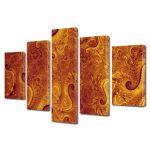 Set Tablouri Multicanvas 5 Piese Abstract Decorativ Pe Marte