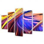 Set Tablouri Multicanvas 5 Piese Abstract Decorativ Forme abstracte