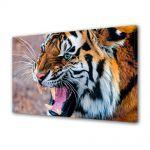 Tablou Canvas Luminos in intuneric VarioView LED Animale Tigru furios