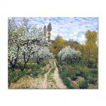 Tablou Arta Clasica Pictor Claude Monet Trees in Bloom 1872 80 x 100 cm