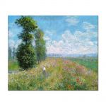 Tablou Arta Clasica Pictor Claude Monet Meadow with Poplars 1875 80 x 100 cm
