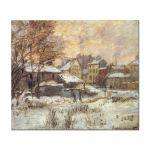 Tablou Arta Clasica Pictor Claude Monet Snow Effect with Setting Sun 1875 80 x 90 cm