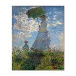 Tablou Arta Clasica Pictor Claude Monet The Promenade, Woman with a Parasol 1875 80 x 90 cm