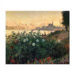 Tablou Arta Clasica Pictor Claude Monet Argenteuil, Flowers by the Riverbank 1877 80 x 100 cm