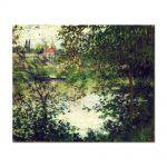 Tablou Arta Clasica Pictor Claude Monet Ile de La Grande Jatte Through the Trees 1878 80 x 100 cm