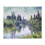 Tablou Arta Clasica Pictor Claude Monet Morning on the Seine, near Vetheuil 1878 80 x 100 cm