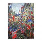 Tablou Arta Clasica Pictor Claude Monet The Rue Montargueil with Flags 1878 80 x 100 cm