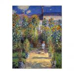 Tablou Arta Clasica Pictor Claude Monet The Artists Garden at Vtheuil 1880 80 x 100 cm