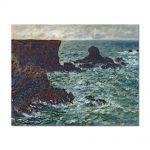 Tablou Arta Clasica Pictor Claude Monet Rocks at Port Coton, the Lion Rock 1886 80 x 100 cm