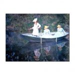 Tablou Arta Clasica Pictor Claude Monet In the Norvegienne Boat at Giverny 1887 80 x 110 cm